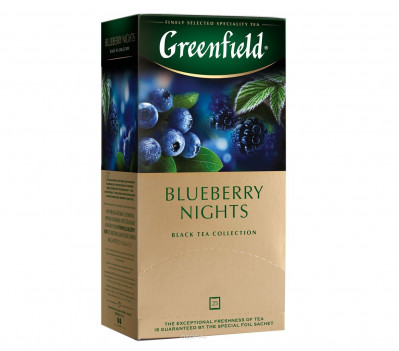 Černý čaj Blueberry Nights Greenfield 25*1,5g