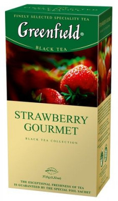 Černý čaj Strawberry Gourmet Greenfield