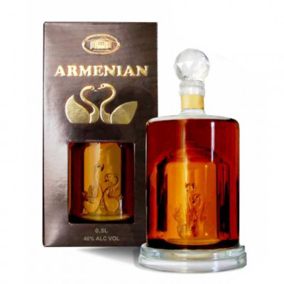Brandy Swan decanter 10years 0,5L