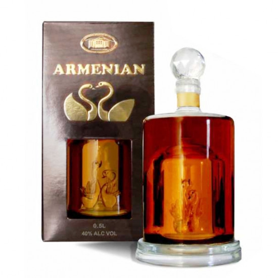 detail Brandy Swan decanter 10years 0,5L